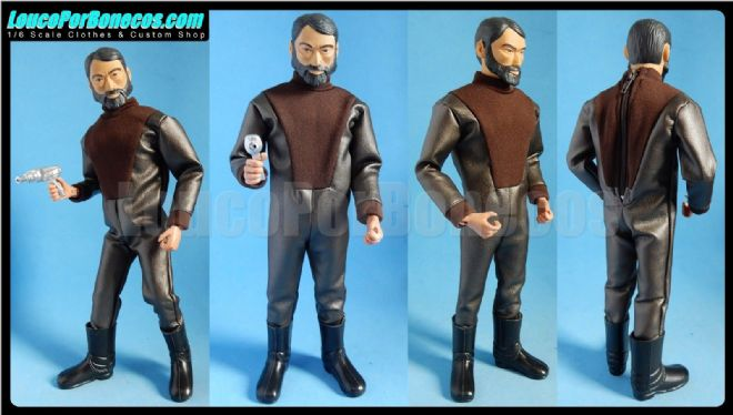 LoucoPorBonecos - FALCON - BROWN INVADER FROM THE FUTURE for Action Man, Gi Joe Etc